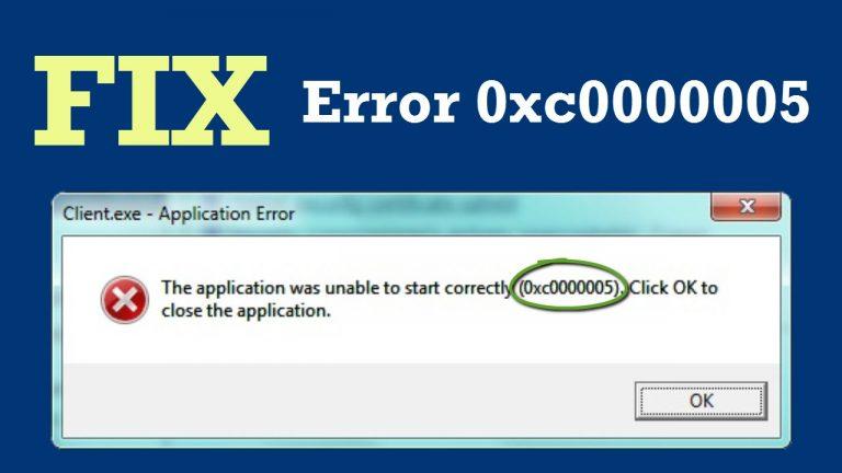 Code 0xc0000005