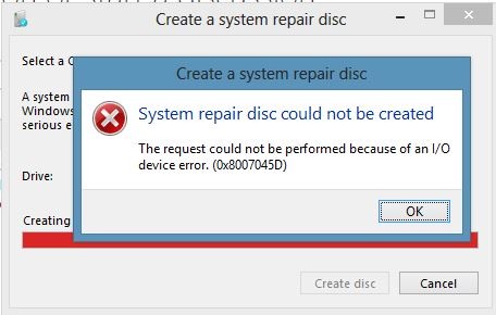 How to Fix Error Code 0x8007045d in Windows 10