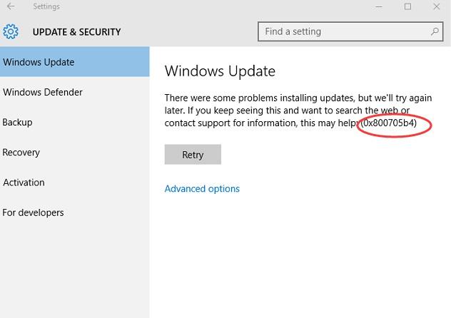 How to Fix Error Code 0x800705b4 in Windows 10