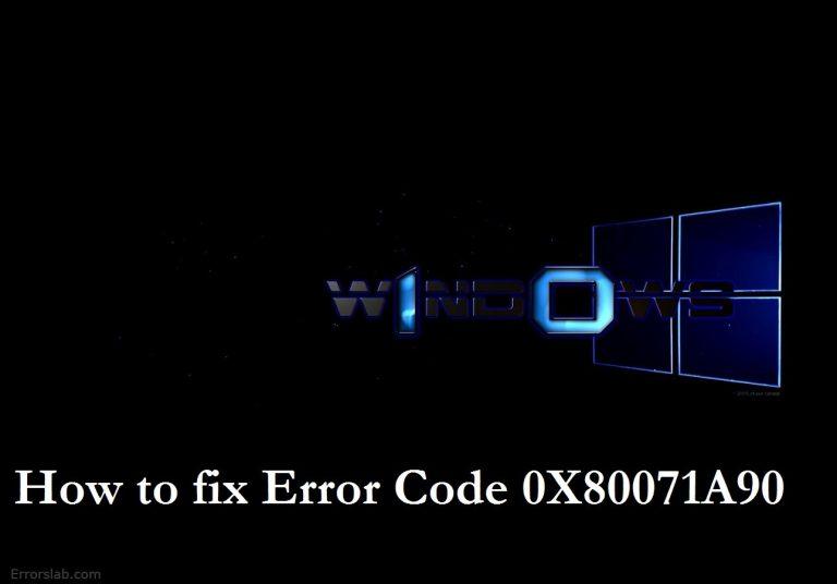 .net framework error 0x80071a90