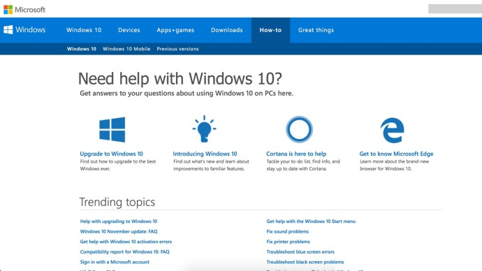 Get Help in Windows 10