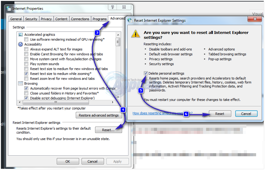 """How to Fix """"Internet Explorer Cannot Display The Webpage"""" Error."""