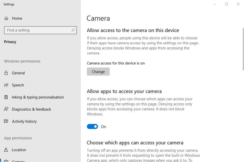 Fix error code 0xa00f4271 on Windows 10 in a few steps